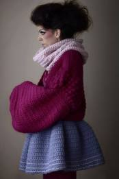 Stacie Clark, graduate collection, knitwear design 1