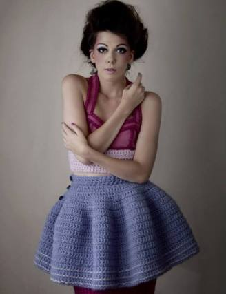 Stacie Clark, graduate collection, knitwear design 2