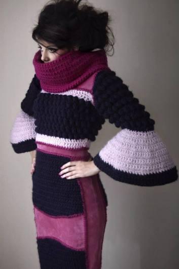 Stacie Clark, graduate collection, knitwear design 3