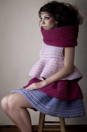 Stacie Clark, graduate collection, knitwear design 8